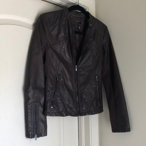 Express Brown Pleather Jacket